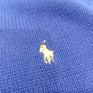 Polo by Ralph Lauren Shirts & Tops - Boy's XL POLO RALPH LAUREN Navy Half Zip Sweater